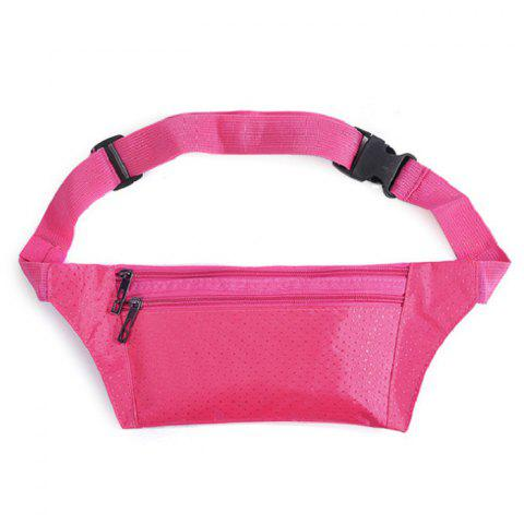 Fancy Light Weight Nylon Sport Wasit Bag - ROSE RED  Mobile