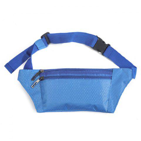Outfit Light Weight Nylon Sport Wasit Bag - AZURE  Mobile