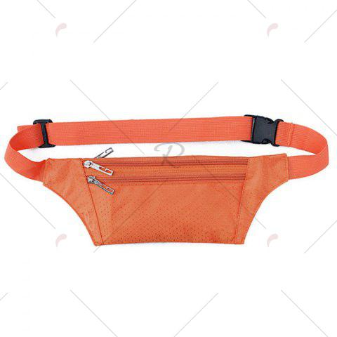 Latest Light Weight Nylon Sport Wasit Bag - ORANGE  Mobile