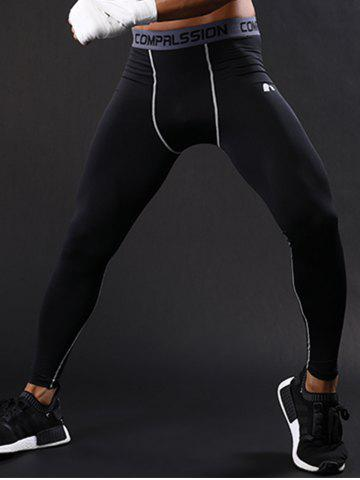Buy Graphic Elastic Waist Quick Dry Suture Stretchy Gym Pants - M GRAY Mobile