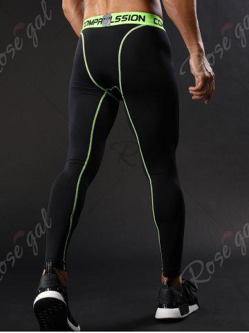 New Graphic Elastic Waist Quick Dry Suture Stretchy Gym Pants - 2XL GREEN Mobile