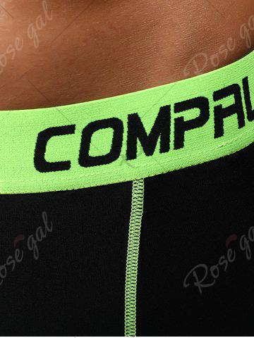 Hot Graphic Elastic Waist Quick Dry Suture Stretchy Gym Pants - XL GREEN Mobile
