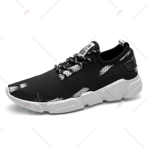Discount Breathable Stretch Fabric Casual Shoes - 40 GRAY Mobile