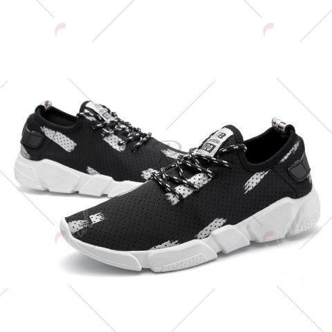 Online Breathable Stretch Fabric Casual Shoes - 40 GRAY Mobile