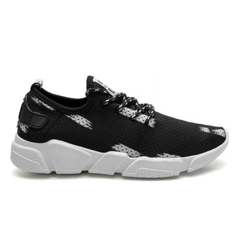 Breathable Stretch Fabric Casual Shoes - Gray - 44