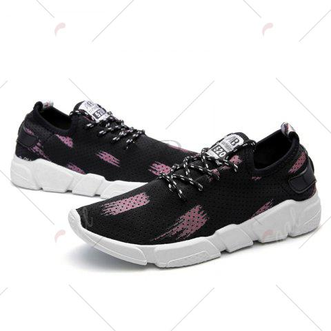 Sale Breathable Stretch Fabric Casual Shoes - 43 BEGONIA Mobile