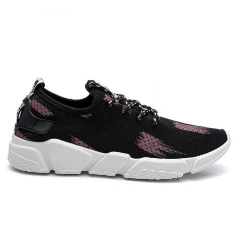 Breathable Stretch Fabric Casual Shoes - Begonia - 40