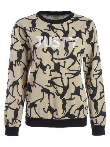 Affordable Justy Embroidered Sweatshirt YELLOW 2XL