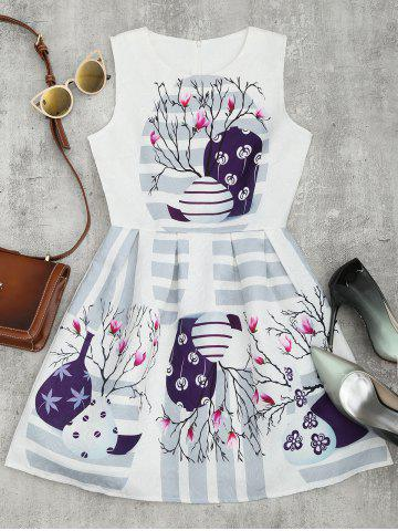 Buy Printed Jacquard Fit and Flare Dress