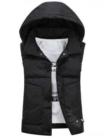 Best Snap Button Detachable Hooded Padded Waistcoat