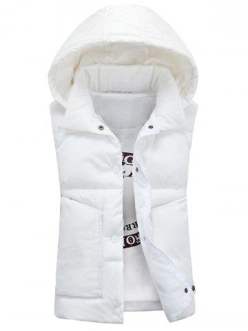 Chic Snap Button Detachable Hooded Padded Waistcoat