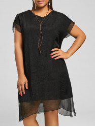 Plus Size Voile Shift Dress