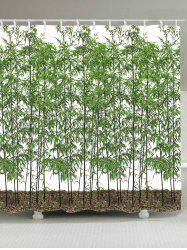 Waterproof Bamboo Trees Shower Curtain