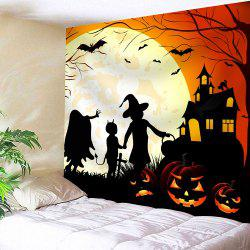 Halloween Evil Pumpkin Moon Night Tapis étanche - Coloré