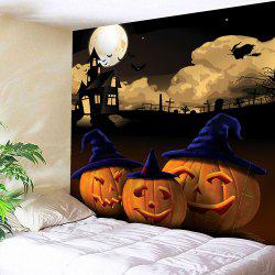 Halloween Night Moon Pumpkin Waterproof Tapestry
