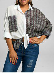 Plus Size Long Sleeve Plaid Boyfriend Shirt