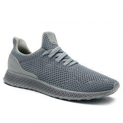 Lace Up Mesh Breathable Athletic Shoes - GRAY 43