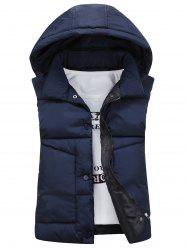 Snap Button Detachable Hooded Padded Waistcoat