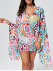 Oversized Asymmetric Cover Up Top