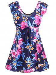 Underwire Padded Floral Plus Size Swimdress
