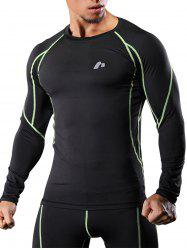 Raglan Sleeve Quick Dry Suture Stretchy Gym T-shirt