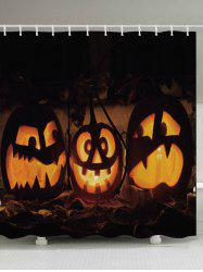 Halloween Pumpkin Print Fabric Waterproof Bathroom Shower Curtain