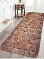 Non Slip Brick Wall Coral Fleece Floor Rug