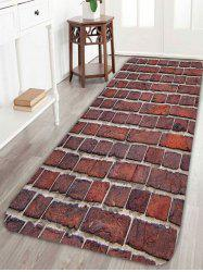Coral Fleece Brick Wall Antislip Bathroom Rug