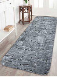 Coral Fleece Slabstone Pattern Large Door Mat