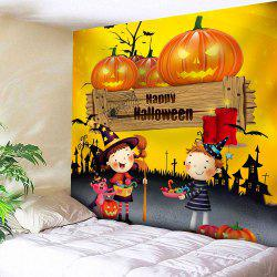 Happy Halloween Pumpkin Waterproof Wall Tapestry