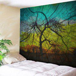 Wood Grain Tapestry Tree Shadow Wall Hanging