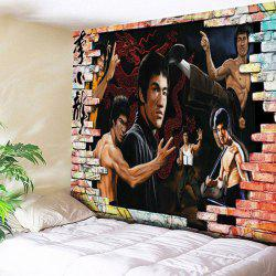 Bruce Lee Kung Fu Wall Hanging Dragon Tapestry