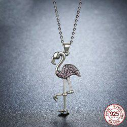 Rhinestone Sterling Silver Bird Collarbone Necklace