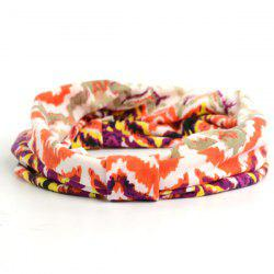Showy Multicolor Pattern Snood Headband -