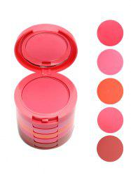 5 Color Cosmetics Makeup Blusher With Brush - COLORMIX