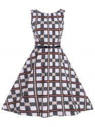 Checked Vintage Dress