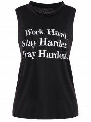Graphic Tank Top - BLACK S