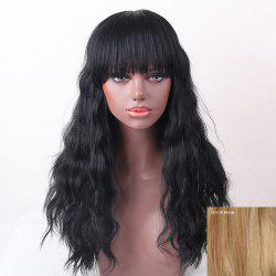 Long Neat Bang Shaggy Natural Wave Human Hair Wig