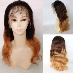 Long Colormix Free Part Loose Wave Indian Lace Front Hair Hair Wig -