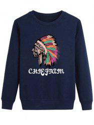 Long Sleeve Graphic Indian Print Sweatshirt
