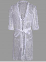Lace Sheer Wrap Sleep Dress