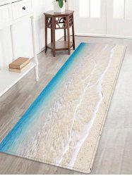 Beach Tidewater Pattern Anti-skid Water Absorption Area Rug