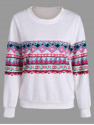 Casual Print Crew Neck Sweatshirt -
