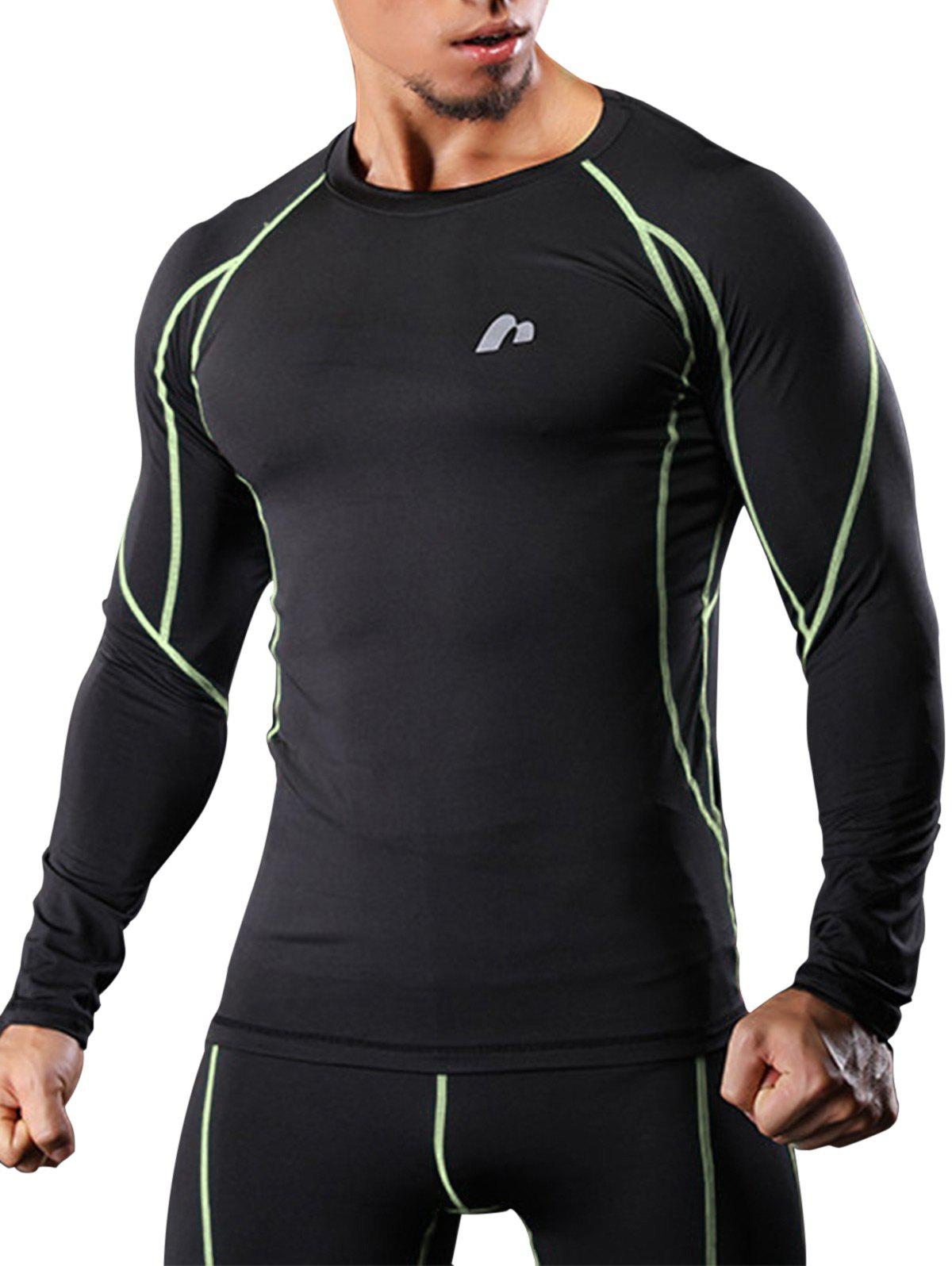 Latest Raglan Sleeve Quick Dry Suture Stretchy Gym T-shirt