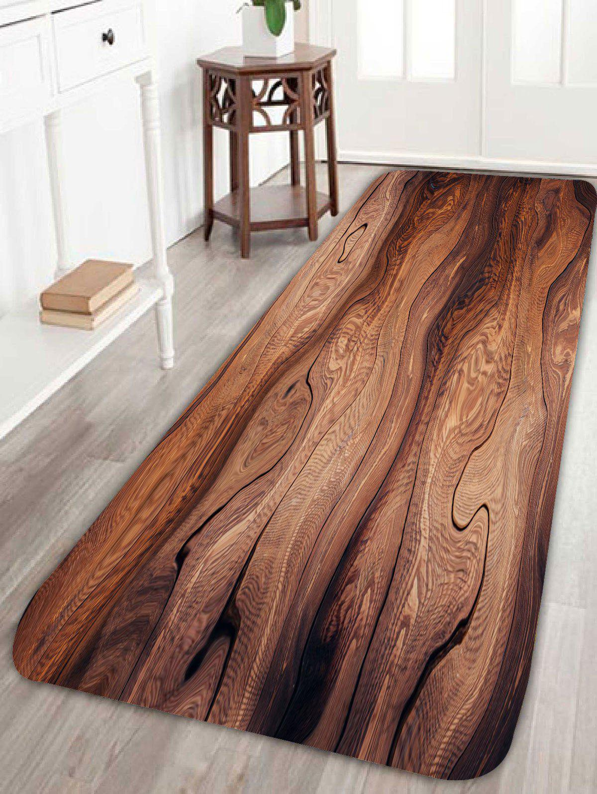 Goodgrain Large Kitchen Bathroom Floor Area RugHOME<br><br>Size: W24 INCH * L71 INCH; Color: BROWN; Products Type: Bath rugs; Materials: Coral FLeece; Pattern: Print; Style: Vintage; Shape: Rectangle; Package Contents: 1 x Rug;