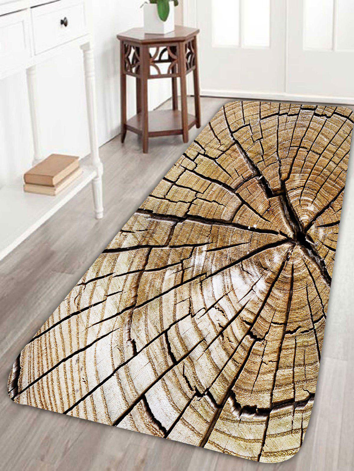 Soft Absorption Broken Plank Bathroom Floor RugHOME<br><br>Size: W24 INCH * L71 INCH; Color: WOOD; Products Type: Bath rugs; Materials: Coral FLeece; Pattern: Print; Style: Vintage; Shape: Rectangle; Package Contents: 1 x Rug;