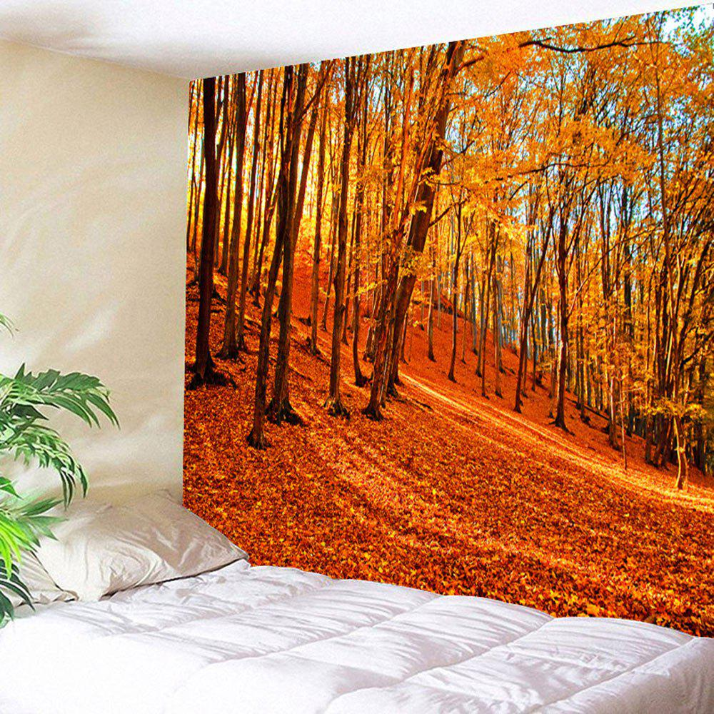 Maple Forest Hanging Blanket Wall Art TapestryHOME<br><br>Size: W79 INCH * L59 INCH; Color: ORANGE; Style: Romantic; Theme: Landscape; Material: Polyester; Feature: Removable,Washable; Shape/Pattern: Print; Weight: 0.3500kg; Package Contents: 1 x Tapestry;