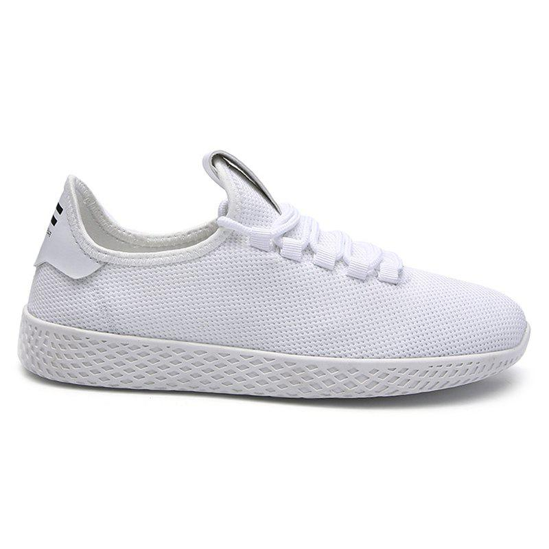Trendy Mesh Lace Up Breathable Casual Shoes