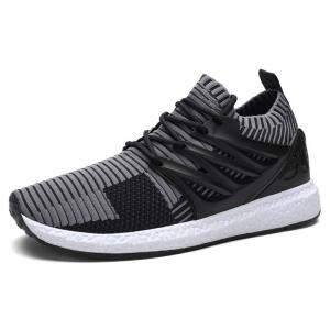 Lace Up Striped Pattern Breathable Casual Shoes -
