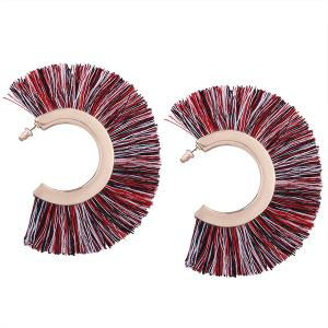 Tassel Statement Hoop Earrings